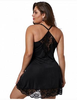Spaghetti Straps Sexy Lace Nightgown_2