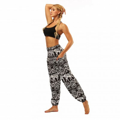 Printed Long Sports Loose High Waist Exercise Yoga Pants_7