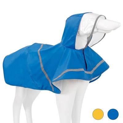 Blue Waterproof Hoody Reflective strip Dog Raincoat | Jacket Pet Clothes_2