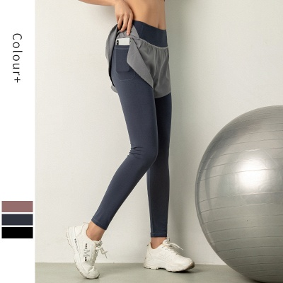 Women High Waist Sports Gym Wear Leggings Elastic Yoga pants Fitness Lady Overall Full Tights Workout_3
