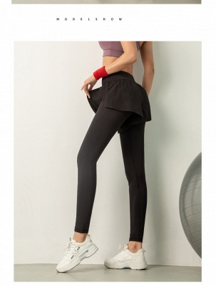 Women High Waist Sports Gym Wear Leggings Elastic Yoga pants Fitness Lady Overall Full Tights Workout_5