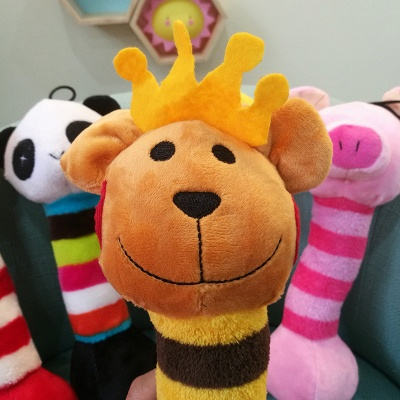 Panda Cartoon Plush Vocal Dog Toys_3