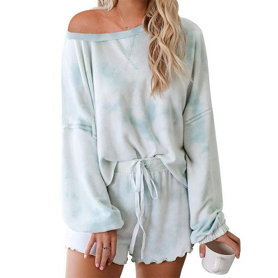Tie-dyed Summer Pyjamas Twinset For Women_5