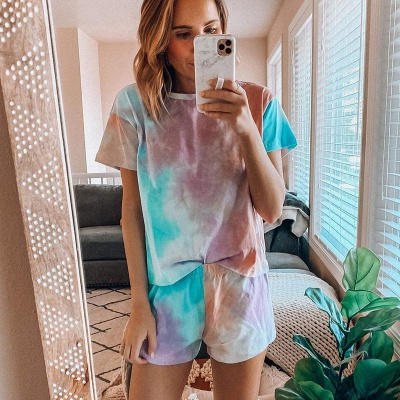 2020 New Style Casual Tie-dyed Women's Homewear_1