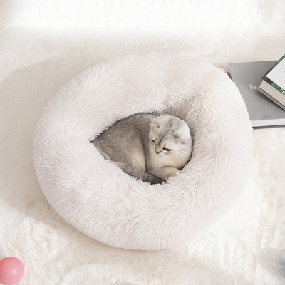 Ultra Soft Washable Dog and Cat Cushion Bed | Comfortable Round  Cuddler Dog Bed_29