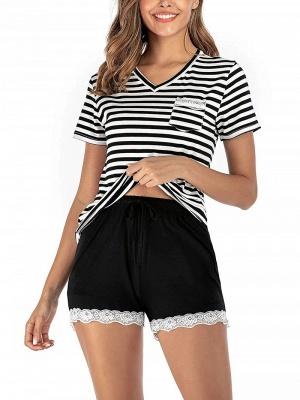 Soft Pajamas Set Casual Summer Home Clothes_4