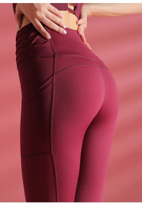 Women yoga pants High Waist Sports Gym Wear Leggings Elastic Fitness Lady Overall Full Tights Workout_8
