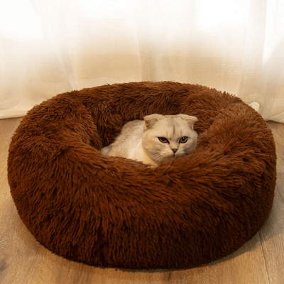 Ultra Soft Washable Dog and Cat Cushion Bed | Comfortable Round  Cuddler Dog Bed_18