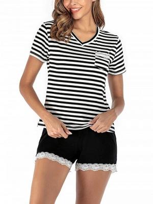 Soft Pajamas Set Casual Summer Home Clothes_3