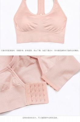 Women  Fitness Gym Running Yoga Sport Suit |  Bra Vest Cropped Sportswear_6