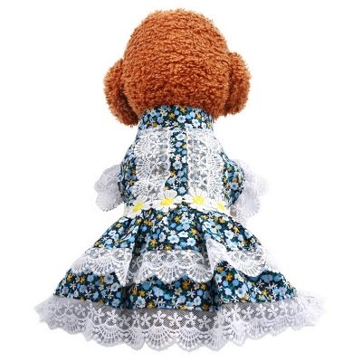 Summer Short Sleeve Floral Lace Pets Dog Skirt | Small Dog Apparel_2