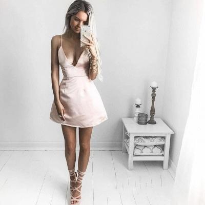 Sexy V-neck Homecoming Dresses   Spaghetti-Straps Short Cocktail Dresses_3