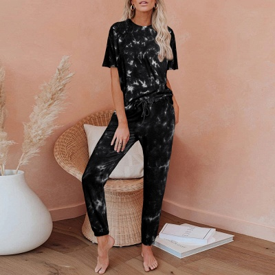 Stylish Tie-dyed Loungewear Track Suit for Sports_3