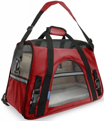 Pet Carrier Soft Sided Puppy Kitten Cat Dog Tote Bag Travel Airline Approved_1