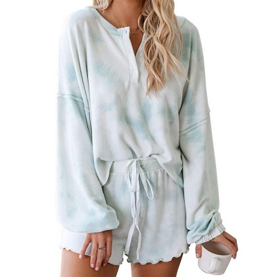 Stylish Tie-dyed Loungewear Casual Home Clothes_1