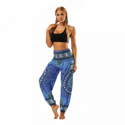 Printed Long Sports Loose High Waist Exercise Yoga Pants_4