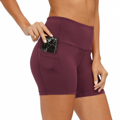 Ladies Spliced High-Waisted Lift Buttock Yoga Shorts | Sports Gym Wear Leggings Elastic Fitness Running Sport Hot Pants_3