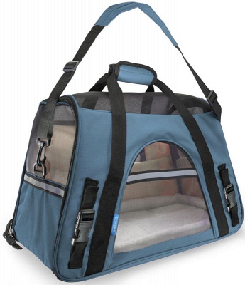 Pet Carrier Soft Sided Puppy Kitten Cat Dog Tote Bag Travel Airline Approved_5