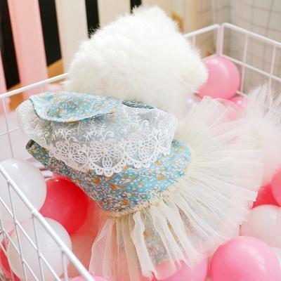 Princess Floral Dog Skirt For Girl Dog_2