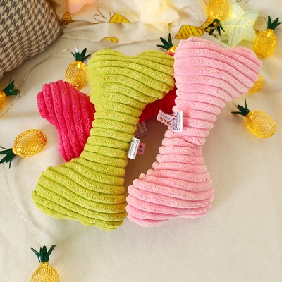 Cute Pet Plush Dog Toys Sound Pet Plush Chew Interactive Toy | Pet Supplies For Puppy Toys Plush strip dog toy_2