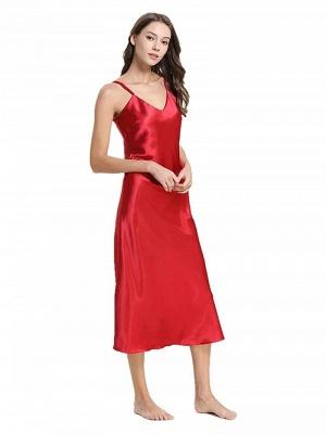 Tea Length Imitate Silk Pajamas Dressing Gown