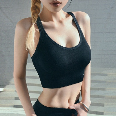 Women  Fitness Gym Running Yoga Sport Suit |  Bra Vest Cropped Sportswear