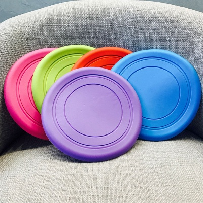Soft Frisbee Rubber Vocal Griding Teeth Frisbee Dog Supplies Toys