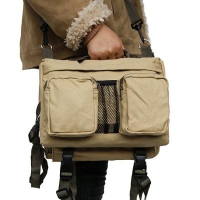 Dog Backpack Hiking Harness Canvas Saddle Bag Adjustable Straps_5