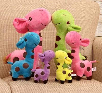 Animal Dear doll Baby Kid Child Christmas Birthday Happy Colorful Gifts 18cm Unisex Cute Gift Plush Giraffe Soft Toy_6