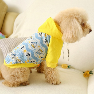 Short Sleeve Hoody Pet T Shirt | Coverved Belly Dog Cloth_1
