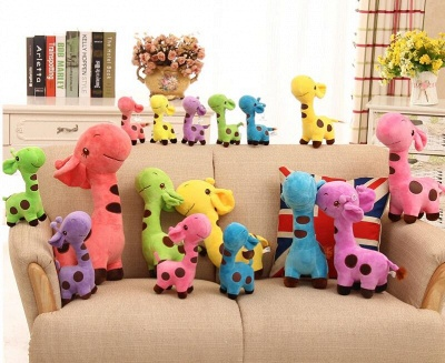 Animal Dear doll Baby Kid Child Christmas Birthday Happy Colorful Gifts 18cm Unisex Cute Gift Plush Giraffe Soft Toy