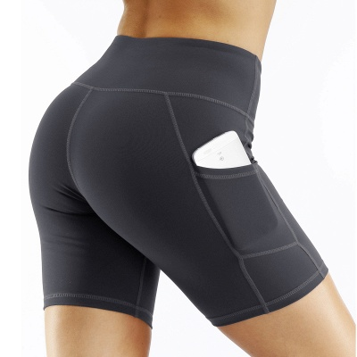 Spring/Summer Ladies Yoga shorts High-waisted Sports Gym Wear Leggings Elastic Fitness running Sport Hot Pants_3
