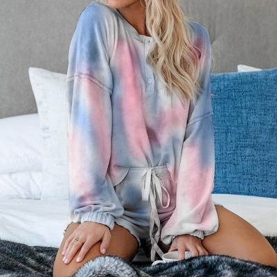 Tie-dyed Summer Pyjamas Twinset For Women
