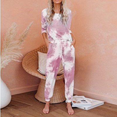 Casual Tie-dyed Home Clothes Twinset_3