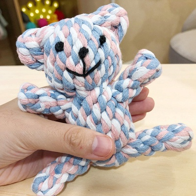 New Style Pet Chew Knot Ball Dog Toys | Small Dog Grinding Teeth Cleaning Interactive Weaving Balls_3