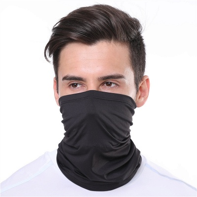 Men's Cooling Neck Gaiter Protective Half Cover Mask