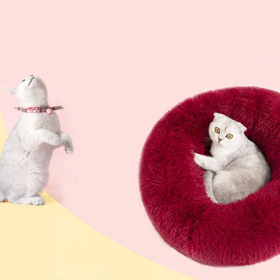 Ultra Soft Washable Dog and Cat Cushion Bed | Comfortable Round  Cuddler Dog Bed_14