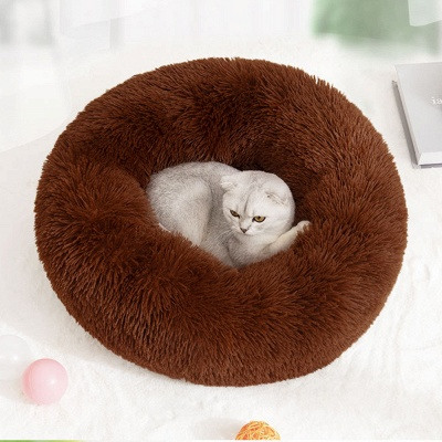 Ultra Soft Washable Dog and Cat Cushion Bed | Comfortable Round  Cuddler Dog Bed_17