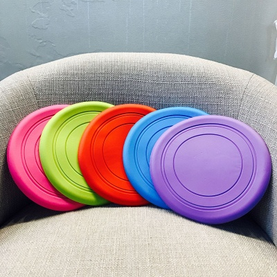 Soft Frisbee Rubber Vocal Griding Teeth Frisbee Dog Supplies Toys_2