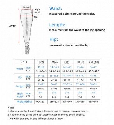 Women Girls High Waist Sports Gym Wear Leggings Yoga Pants | Elastic Fitness Overall Full Tights Workout_9