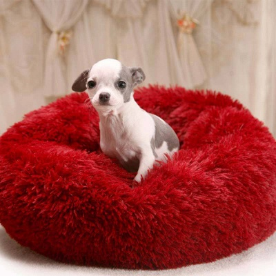 Ultra Soft Washable Dog and Cat Cushion Bed | Comfortable Round  Cuddler Dog Bed_16