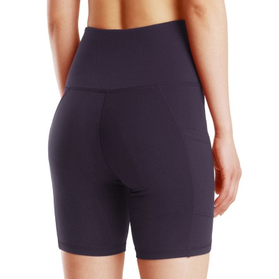 Spring/Summer Ladies Yoga shorts High-waisted Sports Gym Wear Leggings Elastic Fitness running Sport Hot Pants_8