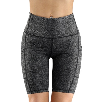 Spring/Summer Ladies Yoga shorts High-waisted Sports Gym Wear Leggings Elastic Fitness running Sport Hot Pants_1
