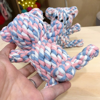 New Style Pet Chew Knot Ball Dog Toys | Small Dog Grinding Teeth Cleaning Interactive Weaving Balls_4