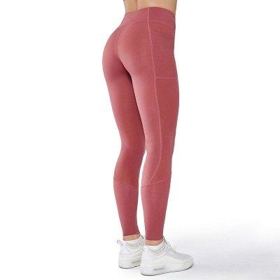 Women Girls High Waist Sports Gym Wear Leggings Yoga Pants | Elastic Fitness Overall Full Tights Workout_4