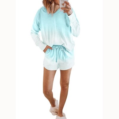 2021 Trendy New Style Tie-dyed Homewear Twinset_4