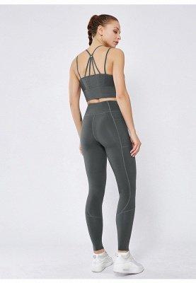 Women Girls High Waist Sports Gym Wear Leggings Yoga Pants | Elastic Fitness Overall Full Tights Workout_5