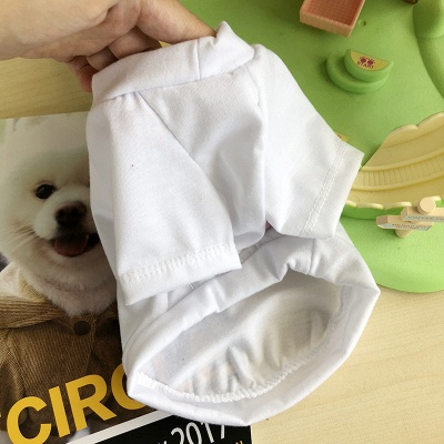 White And Black Short Sleeve Dog T-shirt | Pet Cloth Foe Small Pet_3