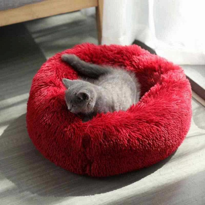 Ultra Soft Washable Dog and Cat Cushion Bed | Comfortable Round  Cuddler Dog Bed_13