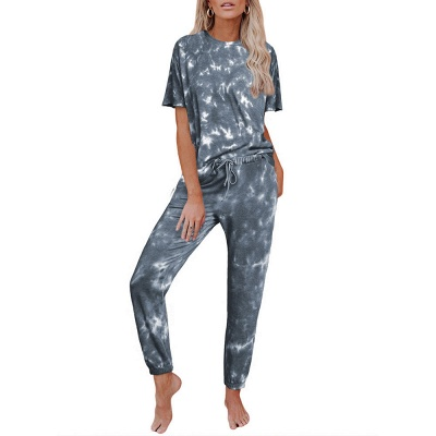 Stylish Tie-dyed Loungewear Track Suit for Sports_5